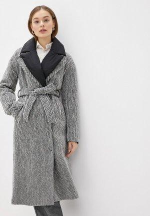 Пальто Acasta. Цвет: серый