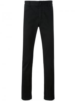 Классические брюки чинос кроя слим Saint Laurent. Цвет: чёрный
