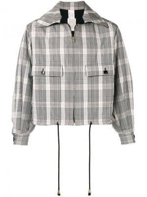 Куртка-бомбер в клетку Gianfranco Ferré Pre-Owned. Цвет: белый