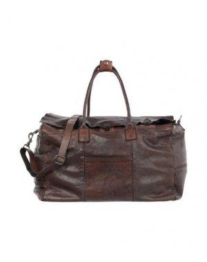 Дорожная сумка CAMPOMAGGI. Цвет: темно-коричневый