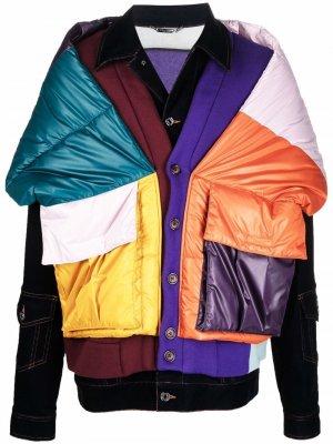 Многослойная куртка в технике пэчворк Dolce & Gabbana. Цвет: разноцветный
