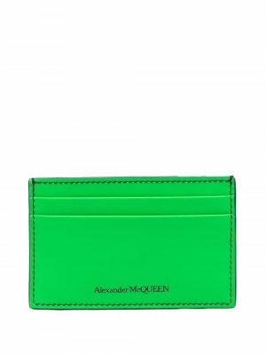 Картхолдер с логотипом Alexander McQueen. Цвет: зеленый