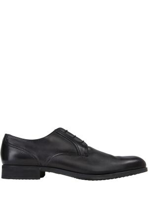 Туфли-дерби с мехом MORESCHI. Цвет: черный