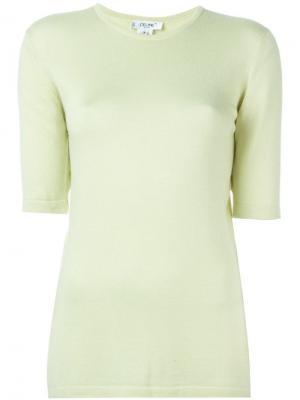 Свитер с короткими рукавами Céline Pre-Owned. Цвет: зеленый