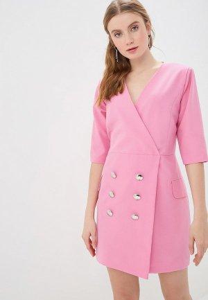 Платье GALOLBO. Цвет: розовый