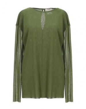 Блузка FUZZI. Цвет: зеленый-милитари
