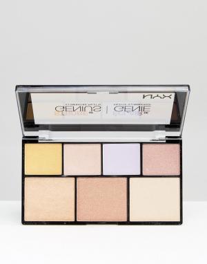 Блестящая палитра NYX Professional Make-Up Makeup. Цвет: мульти