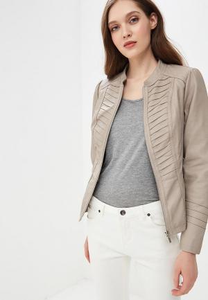 Куртка кожаная Wallis WA007EWBNNX8. Цвет: серый