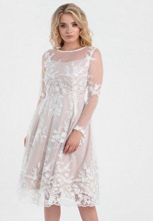 Платье Filigrana. Цвет: бежевый