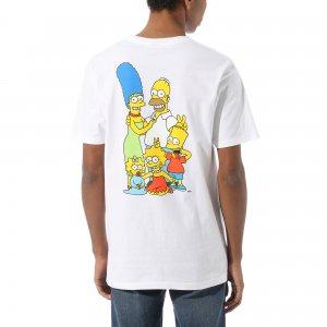 Футболка Vans X Simpsons Family. Цвет: белый