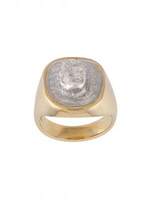 Позолоченный перстень Medusa VICTORIA STRIGINI. Цвет: серебристый