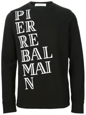Футболки и жилеты Pierre Balmain. Цвет: чёрный