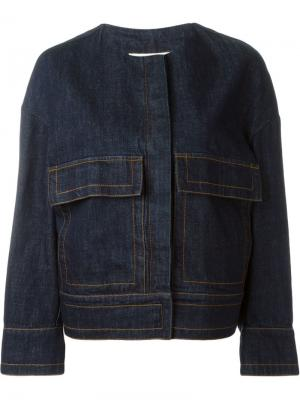 Джинсовая куртка мешковатого кроя Marni. Цвет: синий