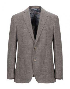 Пиджак REDA. Цвет: голубиный серый