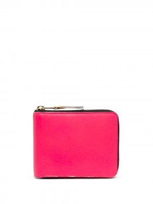 Кошелек Super Fluo с круговой молнией Comme Des Garçons Wallet. Цвет: розовый