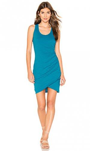 Платье-майка supreme jersey Bobi. Цвет: синий