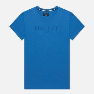 Мужская футболка London Logo Hackett. Цвет: голубой