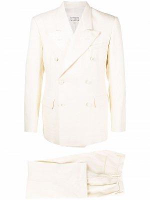 Wide-leg double-breasted suit Maison Margiela. Цвет: нейтральные цвета