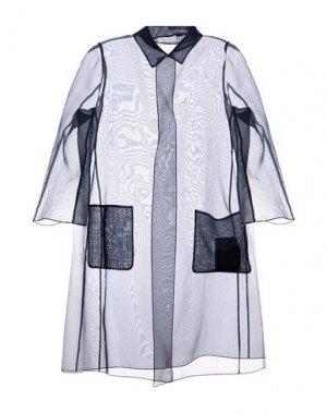 Легкое пальто BOTONDI COUTURE. Цвет: темно-синий
