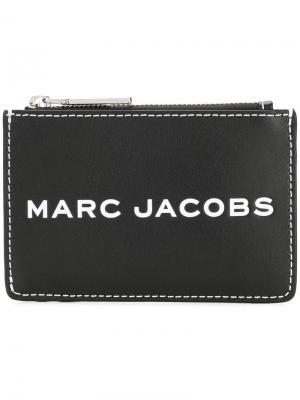 Кошелек на молнии с логотипом Marc Jacobs. Цвет: черный