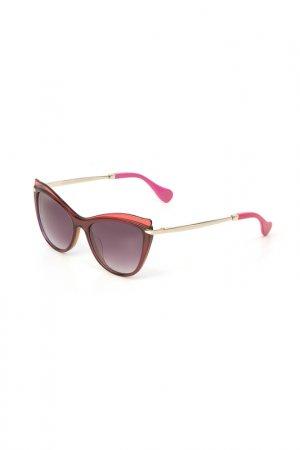 Очки солнцезащитные Enni Marco. Цвет: разноцветный, фиолетовый, розо