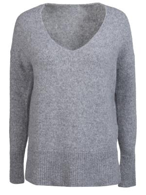 Однотонный пуловер HUGO BOSS. Цвет: серый