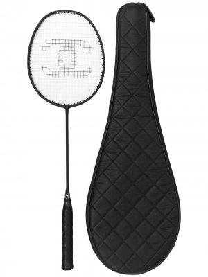 Ракетка для бадминтона с логотипом CC Chanel Pre-Owned. Цвет: черный