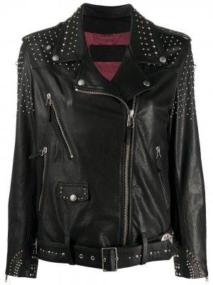 Байкерская куртка с заклепками Golden Goose. Цвет: черный