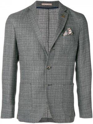 Front button blazer Paoloni. Цвет: серый