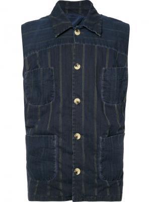 Жилетка Gig Vivienne Westwood Man. Цвет: синий