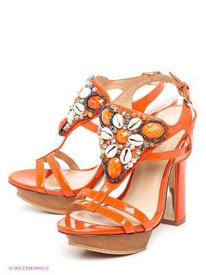 Босоножки LENA MILAN. Цвет: оранжевый