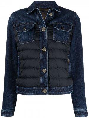 Стеганая джинсовая куртка Moorer. Цвет: синий