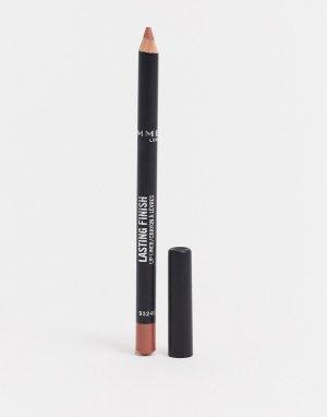 Стойкий карандаш для губ Rimmel – Lasting Finish 8HR (Tiramisu)-Розовый цвет London