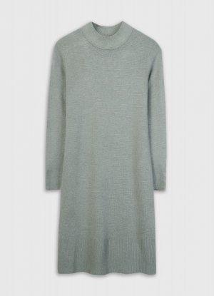 Вязаное платье O`Stin. Цвет: светлый хаки