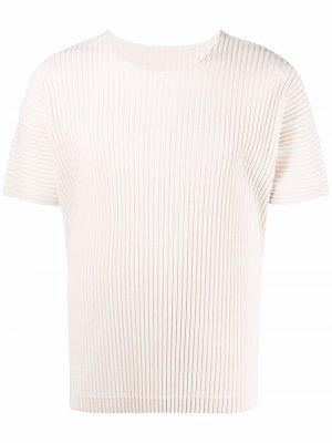 Плиссированная футболка Homme Plissé Issey Miyake. Цвет: 04 moon белый