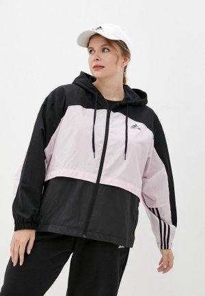 Ветровка adidas W CB WB. Цвет: розовый