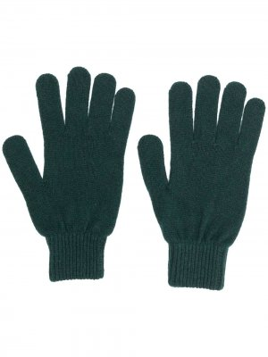 Knitted fitted gloves PAUL SMITH. Цвет: зеленый