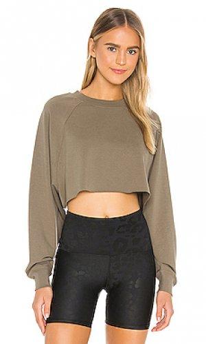 Пуловер take alo. Цвет: оливковый