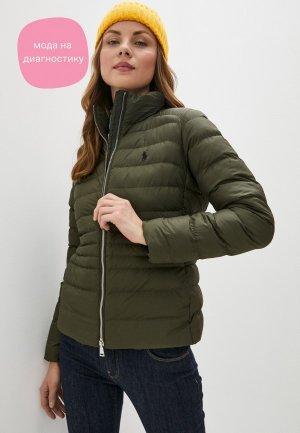 Куртка утепленная Polo Ralph Lauren. Цвет: хаки