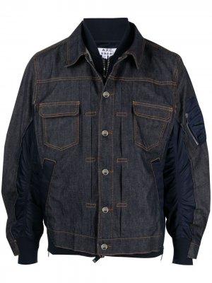 Джинсовая куртка с пышными рукавами A.P.C.. Цвет: синий