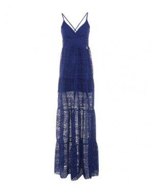 Длинное платье MANGANO. Цвет: темно-фиолетовый