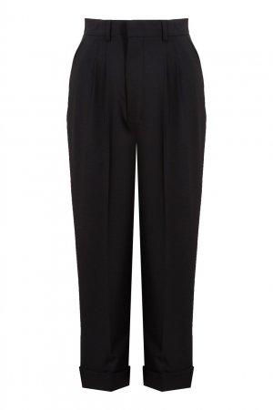 Укороченные брюки с защипами Ami Paris. Цвет: черный