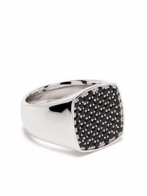 Перстень Cushion со шпинелью Tom Wood. Цвет: серебристый