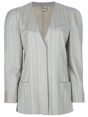 Костюм с юбкой в полоску Krizia Pre-Owned. Цвет: коричневый