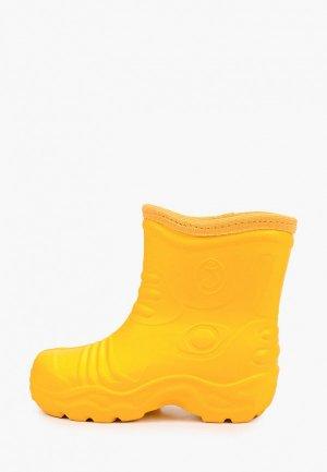Резиновые полусапоги Evart Nubi. Цвет: желтый