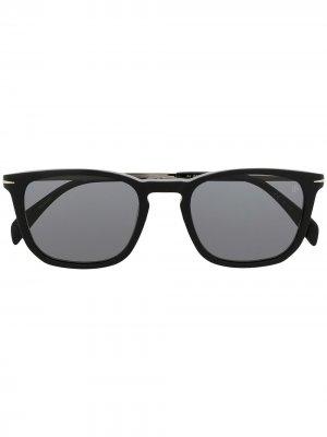 Солнцезащитные очки в квадратной оправе Eyewear by David Beckham. Цвет: серебристый