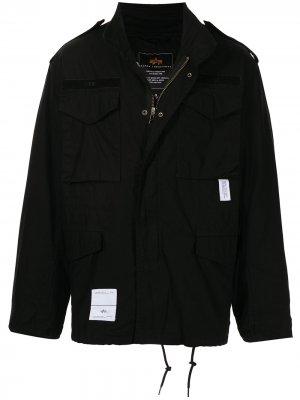 Куртка с капюшоном и нашивкой-логотипом Alpha Industries. Цвет: черный