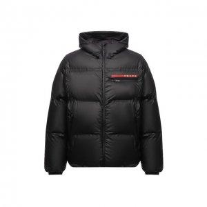 Утепленная куртка Prada Linea Rossa. Цвет: чёрный