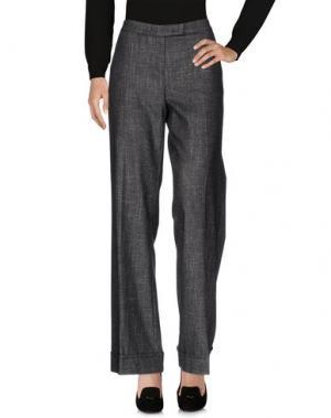 Повседневные брюки ANNA RACHELE. Цвет: стальной серый