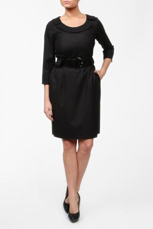 Платье с ремнем Sisline. Цвет: черный
